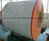 Motif gaufré de bois en acier revêtu de couleur imprimée PPGI bobine