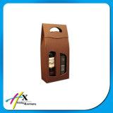 Crear el rectángulo de empaquetado del vino para requisitos particulares de papel con la guarnición de seda