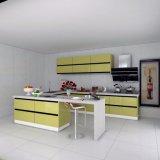 Moderne Hoog polijst het Kabinet van de Lak met Hardware in Keuken