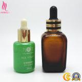 Frasco de petróleo essencial do soro da barba cosméticos de vidro pequenos quentes da venda dos mini com conta-gotas