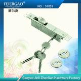 Gancho de trava de porta de parafuso de alumínio para porta deslizante / chave cruzada 51055