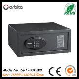 Casella sicura dell'hotel a prova di fuoco di Orbita Digital, contenitore di soldi, casella dei contanti con la serratura elettronica Obt-2043MB