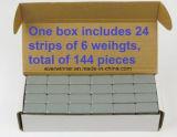 1 коробка колесо 1 Oz утяжеляет Stick-on клейкую ленту 9lb 144 PCS бессвинцовую
