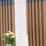 Finials lujosos 100% de la cortina del poliester de la venta de la fábrica con el remiendo