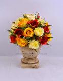 新しいデザイン壷のニースの人工的なローズの花束の花