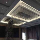 Lustre de cristal de design moderno para projeto de hotel