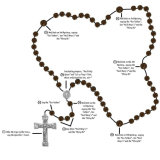 De Armband van de rozentuin, Godsdienstige Armband, de Plastic Armband van Parels (io-CB143)