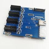 Pcie 접합기 1X To4X 4ports PCI-E 1X 확장 카드 쪼개는 도구 슬롯 4 Pcie에 광업 PCI-E