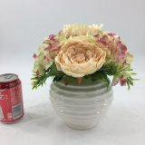 De witte Elegante Ceramische Bonsai van Kunstbloemen