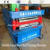 O cartão canelado e Ibr Tejadilho máquina de formação de rolos de Dupla Camada