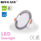 3W 2.5 Zoll-Silber LED Downlight mit Ce&RoHS