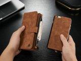 取り外し可能なSlimcase 2 Kickstandsの電話箱が付いている実質の革札入れの箱