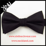 100% en soie tissé personnalisé en gros Black Bow Tie