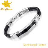 Stlb-016 pulseiras de charme de couro de estilo retro