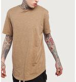 Maglietta lunga del bordo di fabbricazione della maglietta degli uomini