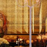 Lumière extérieure de rideau en mariage DEL d'usager de vacances