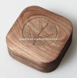 Rectángulo de empaquetado de la insignia de la nuez del rectángulo de madera de lujo de encargo del recuerdo