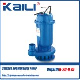 Bomba de água submersível de esgoto WQX (WQXD15-10-0.75)