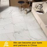 艶をかけられた完全な磨かれたタイルの白い大理石の石造りのタイル