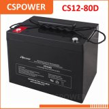 Vie profonde CS12-80d de la batterie 15-20years de cycle de l'usine 12V 80ah de batterie