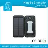 2017 Nouveaux produits extérieurs utiles Waterproof Solar Power Bank 10000mAh Chargeur solaire Compass Flash Light LED Light for Camping