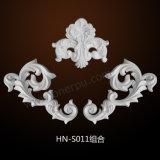 Appliques del poliuretano y ornamentos Hn-S011 de la PU de los moldeados de los muebles de los sobrepuestos