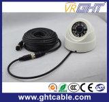 Cable de circuito cerrado de televisión con 4 Pin Aviación Conector para cámara del coche