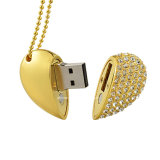 Mini USB impermeabile Pendrive dell'a cristallo di figura del cuore del disco di memoria del USB