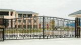 Haohanの良質の外部の機密保護の装飾的な錬鉄の塀のゲート18