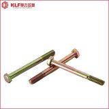 Aço do RUÍDO 7999/Gr8.8/Carbon/parafuso Hex com o revestimento de zinco da cor
