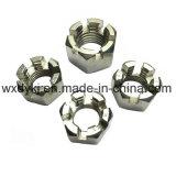 Noix encochée par hexagone de l'acier inoxydable 304 DIN 935