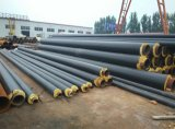 Tubo de acero aislado fibra de vidrio termal recta estándar del tubo del tubo del En 253 Preinsulated para el agua enfriada