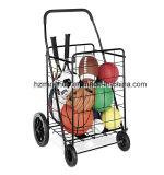Het vouwbare Boodschappenwagentje van de Supermarkt van het Metaal met Wielen