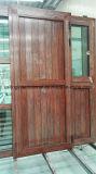 Les graines en bois de porte en aluminium balancent à l'extérieur la porte