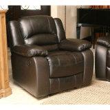 居間のための上のグレーンレザーのソファの革ソファー
