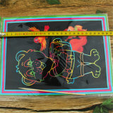 Les enfants de bricolage or Papier Art Scratch dessin gratter avec un crayon de carte de l'impression photo de chat