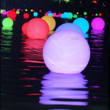 Con pilas bolas de luz LED de colores para el jardín con impermeable