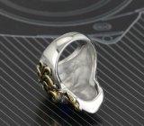 형식 포도 수확 Retro 두개골 다이아몬드 티타늄 스테인리스 남자 악대 반지 보석
