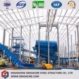 Entrepôt industriel de construction de structure métallique de qualité avec la fabrication en acier