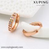 91824의 형식 로즈 최신 판매에 금에 의하여 도금되는 다이아몬드 보석 귀걸이