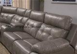 Insieme di transizione di colore della mobilia del salone del Recliner del sofà del cuoio sezionale beige comodo dell'aria con la sezione comandi