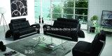 Sofá moderno do couro genuíno da sala de visitas (B-201)