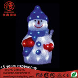LED Christmas Series 3D Acrylique Snowman Motif Light pour Décoration de vacances en plein air