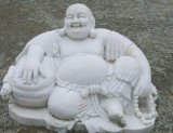Горячая белая мраморный статуя Будды для сбывания