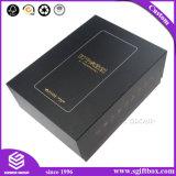 Contenitore di regalo impaccante di lusso di oro di alta qualità della stagnola del documento su ordinazione del nero