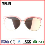 2017 lunettes de soleil modernes unisexes de demi de bâti de mode élevée (YJ-F86779)