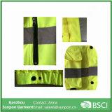 Alta Visibilidad Mens el 100% Poliéster reflexivo de la seguridad de la chaqueta