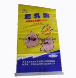 Sacos de embalagem tecidos da alimentação animal dos PP da alimentação do porco da laminação de OPP