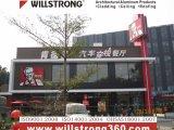 Willstrong Acm per la decorazione delle facciate del ristorante di Kfc del negozio di pizza