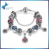 De Bohemia, el amor de la cadena de la Serpiente flor rosa, claro CZ pulseras y brazaletes